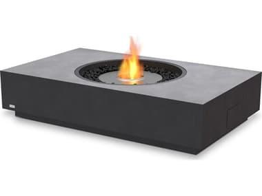 EcoSmart Fire Martini 50 Concrete Graphite 50''W x 30''D Rectangular Fire Table with Ethanol Burner ECOESF.O.MTI.50.GH