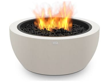 EcoSmart Fire Pod30 30'' Wide Concrete Steel Round Pit Table ECOESF.O.PD3.BO.G