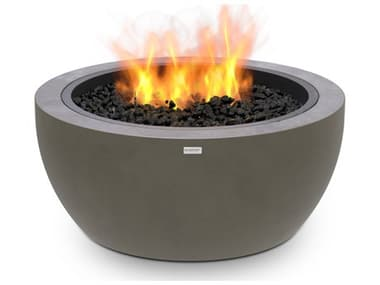EcoSmart Fire Pod30 30'' Wide Concrete Steel Round Pit Table ECOESF.O.PD3.NA.G
