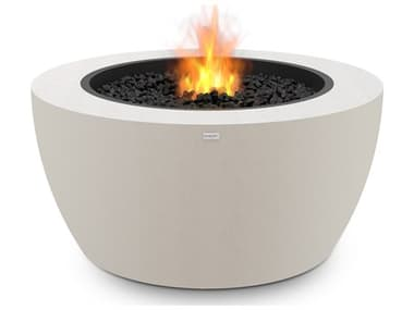 EcoSmart Fire Pod40 39'' Wide Concrete Steel Round Pit Table ECOESF.O.PD4.BO.G