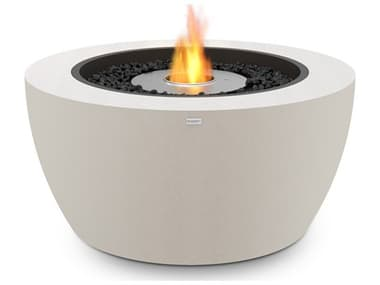EcoSmart Fire Pod40 39'' Wide Concrete Steel Round Pit Table ECOESF.O.PD4.BO