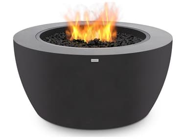 EcoSmart Fire Pod40 39'' Wide Concrete Steel Round Pit Table ECOESF.O.PD4.GH.G