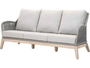 Essentials for Living Outdoor Woven Platinum / Smoke Gray Cushion Sofa EFL68173PLASGGT
