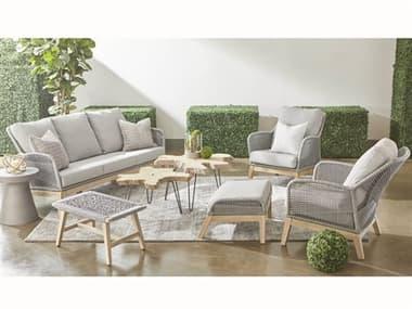 Essentials for Living Outdoor Woven Gray Cushion Lounge Set EFL68173PLASGGTSET3