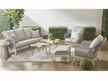 Essentials for Living Outdoor Woven Gray Cushion Lounge Set EFL68173PLASGGTSET2