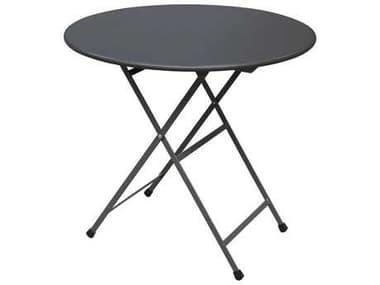 EMU Arc En Ciel Steel 32'' Wide Round Folding Table EM346