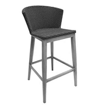 EMU Elly Bar Chair Seat Replacement Cushion in Dark Grey EMC1210