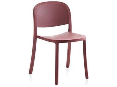 Emeco Outdoor 1 Inch By Jasper Morrison Reclaimed Bordeaux Dining Side Chair EMO1INCHRECLAIMEDBORDEAUX