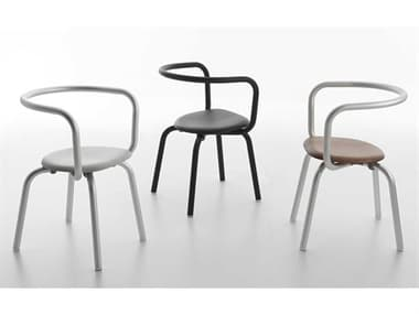 Emeco Outdoor Parrish By Konstantin Grcic Aluminum Conversation Patio Lounge Set EMOPARPCBLKPSBLACKSET2
