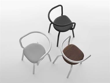 Emeco Outdoor Parrish By Konstantin Grcic Aluminum Conversation Patio Lounge Set EMOPARPCBLKPSBLACKSET3