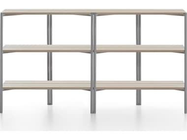 Emeco Outdoor Run By Sam Hecht And Kim Colin Aluminum Clear Anodized Shelf in Ash EMORSSASH