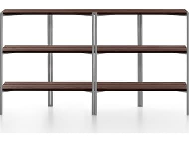 Emeco Outdoor Run By Sam Hecht And Kim Colin Aluminum Clear Anodized Shelf in Walnut EMORSSWAL