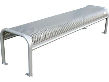 EMU Valles Steel Glossy Silver Backless Bench EMU340B