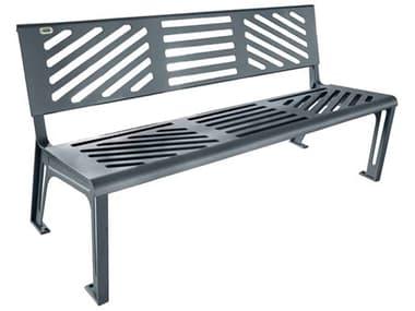 EMU Essen Cast Iron Textured Steel Grey Bench EMU397M