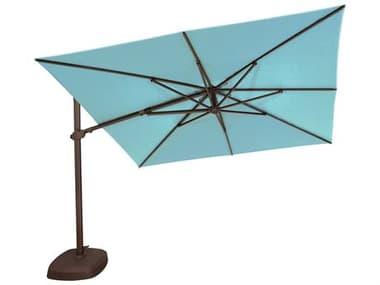 Treasure Garden NonStock Sunbrella 10' AG25TSQR Square Cantilever Umbrella EXAG25TSQRNONSTOCK