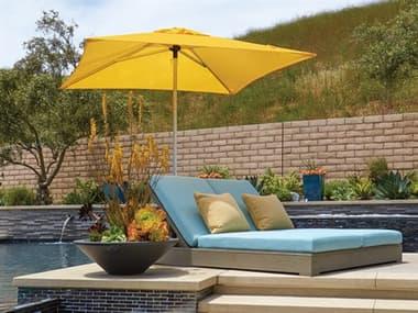 Treasure Garden Commercial Aluminum 7' Square Push Up Lift Umbrella EXUCP407SQ