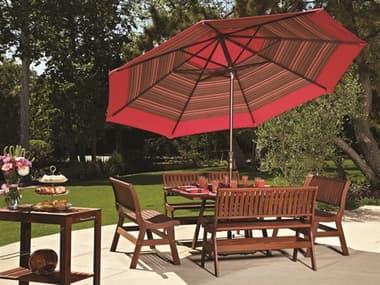 Treasure Garden Market Aluminum 11' Octagon Collar Tilt Crank Lift Umbrella EXUM801