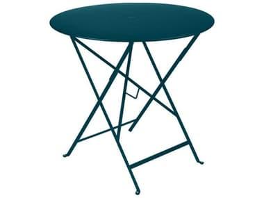 Fermob Bistro 30'' Wide Steel Round Umbrella Hole Table FER0233