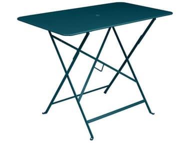 Fermob Bistro 38'' Wide Steel Rectangular Umbrella Hole Table FER0239