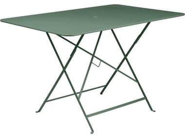 Fermob Bistro 46'' Wide Steel Rectangular Umbrella Hole Table FER0240