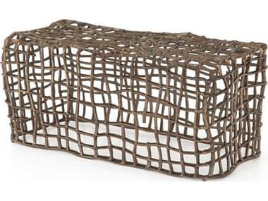 Four Hands Outdoor Marlow Aged Bronze Aluminum Metal Bench FHOIMAR219