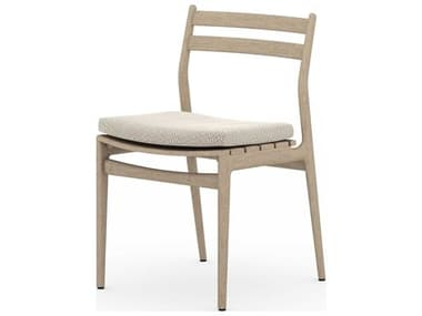 Four Hands Outdoor Solano Teak Cushion Dining Chair FHOJSOL08302K