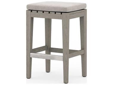 Four Hands Outdoor Solano Teak Cushion Counter Stool FHOJSOL08501K