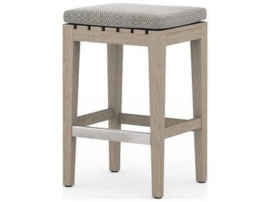 Four Hands Outdoor Solano Teak Cushion Counter Stool FHOJSOL08502K