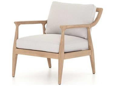 Four Hands Outdoor Solano Teak Cushion Lounge Chair FHOJSOL08602K