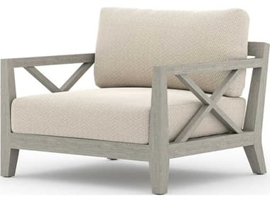 Four Hands Outdoor Solano Teak Cushion Lounge Chair FHOJSOL08701K