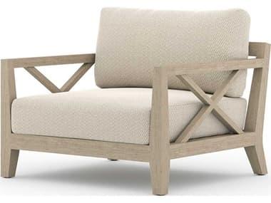 Four Hands Outdoor Solano Teak Cushion Lounge Chair FHOJSOL08702K