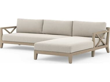 Four Hands Outdoor Solano Teak Cushion Right Chaise Sectional Sofa FHOJSOL08802KS2