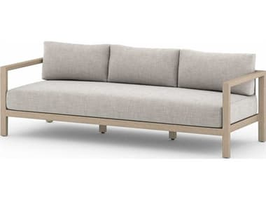 Four Hands Outdoor Solano Teak Cushion Sofa FHOJSOL10502K