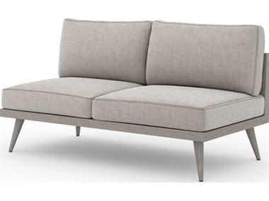 Four Hands Outdoor Solano Teak Cushion Loveseat FHOJSOL10701K