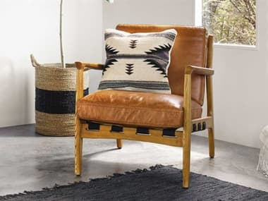 Four Hands Bishop Patina Copper / Ash Wood Natural Accent Chair FSCBSH004102