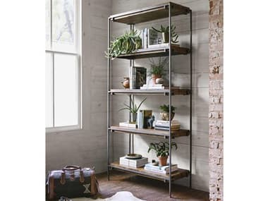 Four Hands Harmon Weathered Hickory / Gunmetal Etagere FSIHRM052