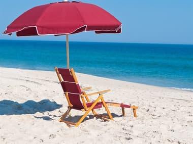 Frankford Avalon Fiberglass Beach 7.5 Foot Wide Octagon Manual Lift Umbrella FU844FWB