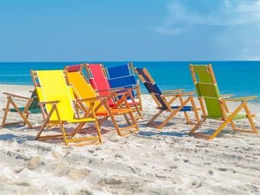 Frankford Umbrellas Oak Wood Beach Chair Lounge Set FUBEACHCHAIRSET12