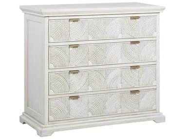 Gabby Home Kai Sesame White, Brass 4 Drawers Dresser GASCH163225