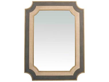 Gabby Yardley Antique Gold, White & Neutral Shagreen 35''W x 46''H Rectangular Wall Mirror GASCH240505