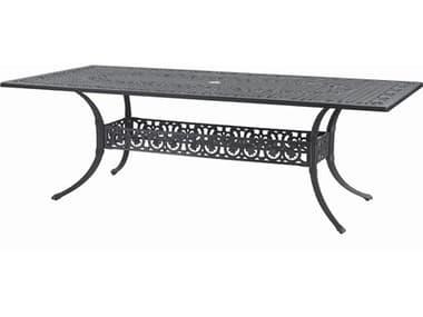 Gensun Michigan Cast Aluminum 86''W x 42''D Rectangular Dining Table with Umbrella Hole GES101400C3