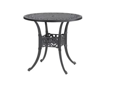 Gensun Michigan Cast Aluminum 32'' Wide Round Dining Table with Umbrella Hole GES10140A32