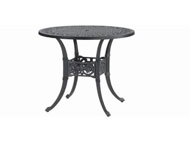 Gensun Michigan Cast Aluminum 36'' Wide Round Dining Table with Umbrella Hole GES10140A36