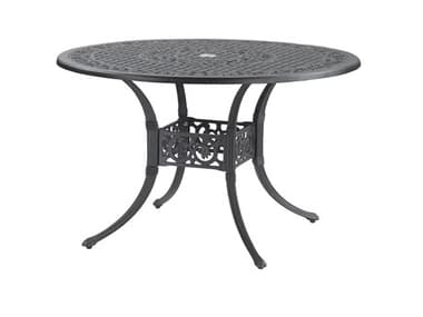 Gensun Michigan Cast Aluminum 48'' Wide Round Dining Table with Umbrella Hole GES10140A48