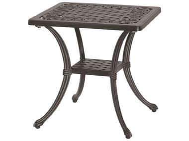 GenSun Michigan Cast Aluminum 21'' Wide Square End Table GES10140E21