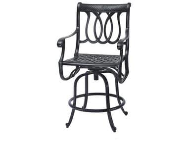 Gensun Largo Cast Aluminum Cushion Swivel Balcony Stool GES10170006