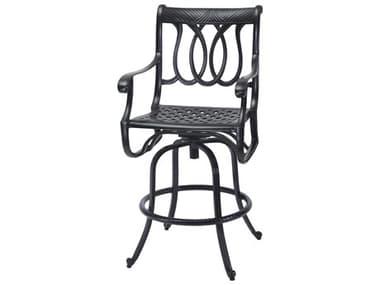 Gensun Largo Cast Aluminum Cushion Swivel Bar Stool GES10170007