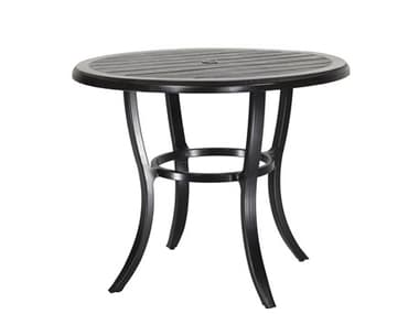 Gensun Channel Aluminum 44'' Wide Round Counter Table with Umbrella Hole GES1019NA44