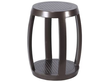 Gensun Cast Aluminum Channel Stool and End Table GES1019STB1
