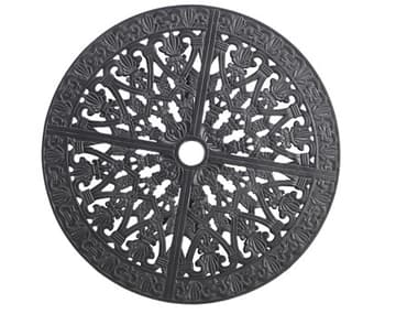 Gensun Florence Accessories Cast Aluminum 26'' Wide Round Lazy Susan with Umbrella Hole GES102300AS